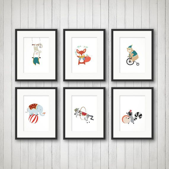 Circus Nursery Art Elephant Nursery Art by SimplyLoveCreations