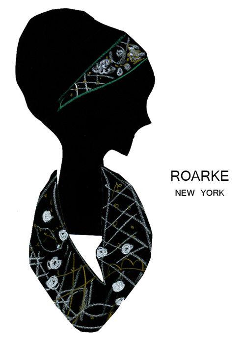 ROARKE デザイナーのMignonne Gaviganと、バーグドルフ・グッドマンの元バイヤーのLaetitia Stanfieldが2009年にスタートさせたアクセサリーブランド『ローク』 布地に凝った刺繍を施したネックレス、ヘッドドレス、ブレスレットなど、モードなハンドメイド感が素敵。