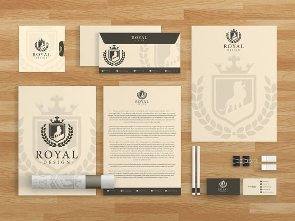 Royal Design Brand Identity Template by MusiqueDesigns on Creative Market