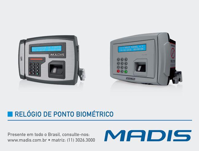 Especialista na fabricação e fornecimento de Relógio de Ponto Biométrico, além de comercializar a mais completa linha de bobina para ponto eletrônico e equipamentos para controle de acesso de pessoas e veículos, a MADIS possui modelos ideais para todo tipo de empresa, das pequenas às grandes, garantindo tecnologia de ponta em sistemas de Relógio de Ponto Biométrico. Conheça abaixo os principais modelos de Relógio de Ponto Biométrico MADIS.