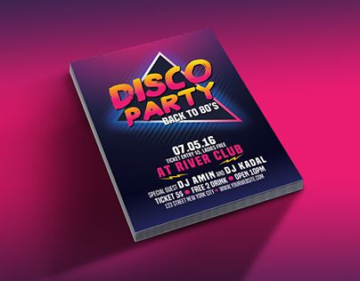 """Check out new work on my @Behance portfolio: """"Disco Party 80's"""" http://be.net/gallery/40585935/Disco-Party-80s"""
