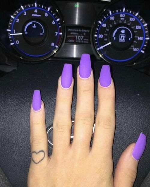 Best 25 purple nails ideas on pinterest purple nails with if i could pull off long nails purple matte is where its at prinsesfo Choice Image