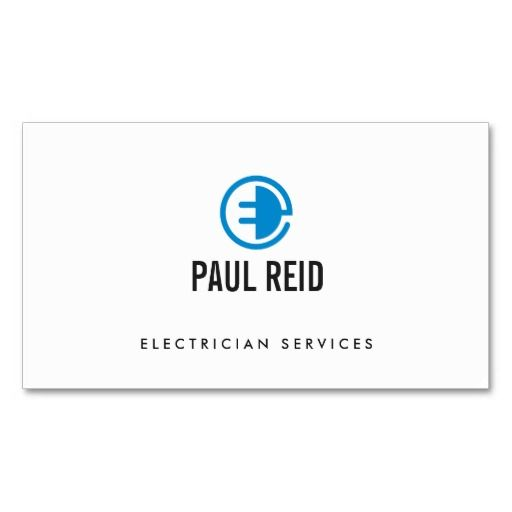 17 best customizable construction home improvement maintenance electrician electrical logo white business card reheart Choice Image