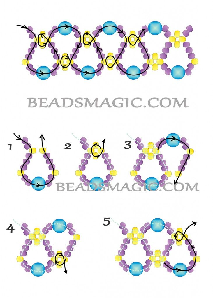 Free pattern for necklace Emprice | Beads Magic