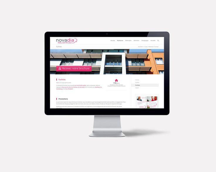 Site web des maisons de retraite Novadia (www.novadia.be) par www.double-id.com