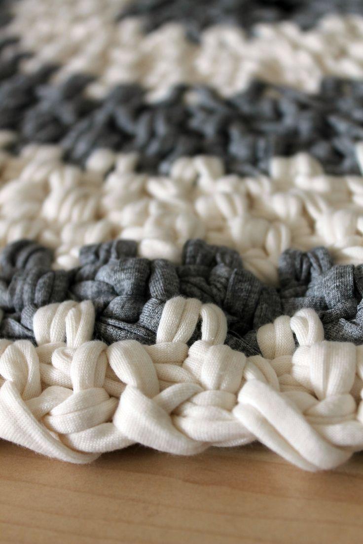 91 besten textilgarn crochet bilder auf pinterest teppich h keln teppiche und stricken h keln. Black Bedroom Furniture Sets. Home Design Ideas