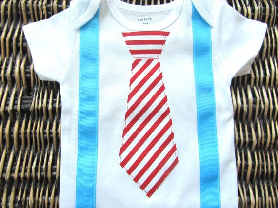 Baby Boy Clothes Dr Seuss Cat in the Hat Tie and