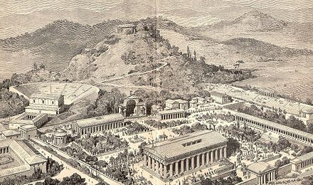 The first Ancient Olympic Games were held in Olympia, Greece. The Olympics games were originally started in honor of Zeus a prominent god in which citizens worshiped. Competitors would fight for the adoration and appreciation of their god. The Olympic Games were comprised of a series of events, and were watched by many fellow citizens.