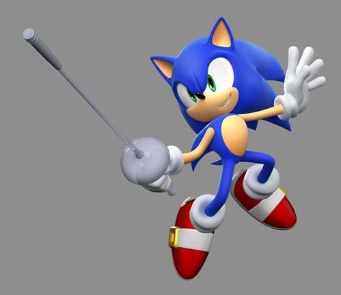 Sonic with his fencing sword from the official artwork set for #Mario and #Sonic at the London 2012 Olympic Games on #WiiU and #3DS. #Olympics http://www.superluigibros.com/3ds-mario-sonic-london-2012-olympic-games