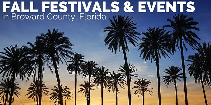 Fall Events in Broward County, Florida