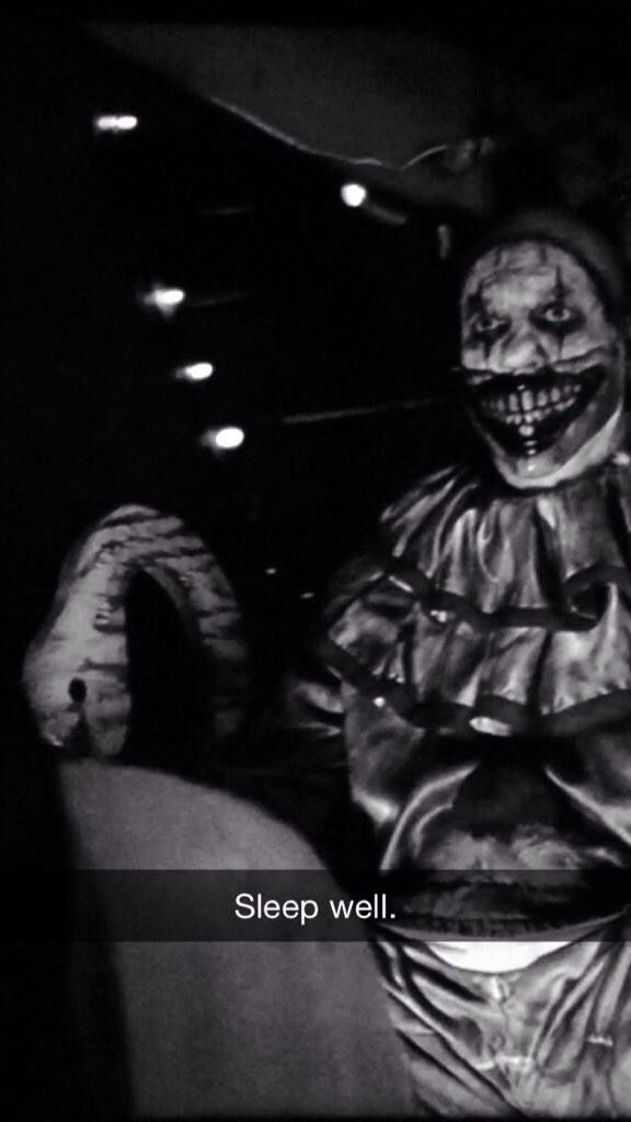 The creepy clown from American Horror Story..Freak Show....