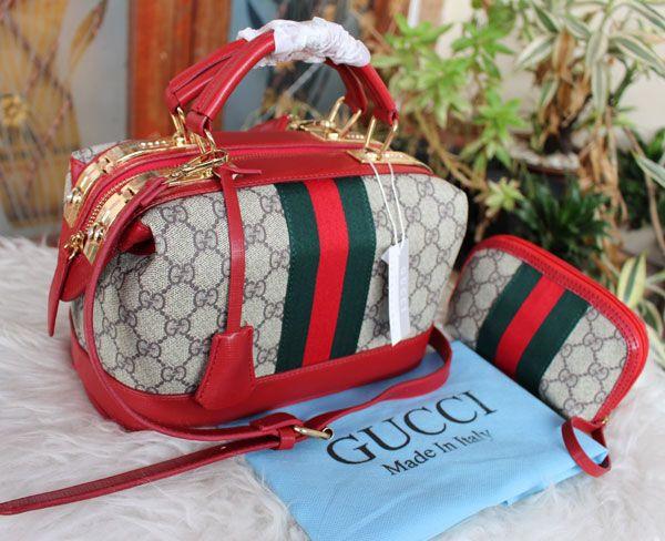 Tas Gucci Behel Permata Brozovic warna merah