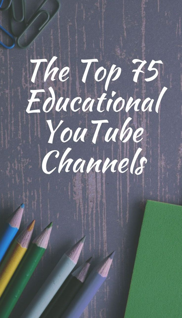 Watch and Learn: The Top 75 Educational YouTube Channels in 2019
