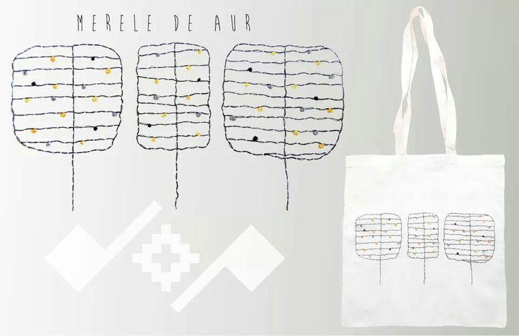Merele de aur;  Romanian inspiration design;  Handmade embroidered bag;   https://m.facebook.com/beeboo814?_rdr#!/design.cu.origini.populare
