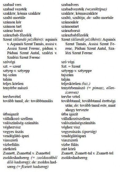 A MEGVÁLTOZOTT HELYESÍRÁSÚ SZAVAK JEGYZÉKE - webtanitoneni.lapunk.hu