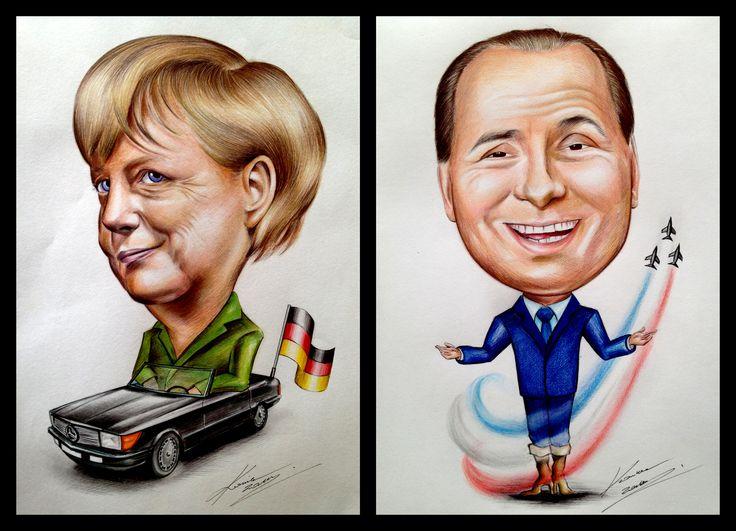 Angela Merkel, Silvio Berlusconi