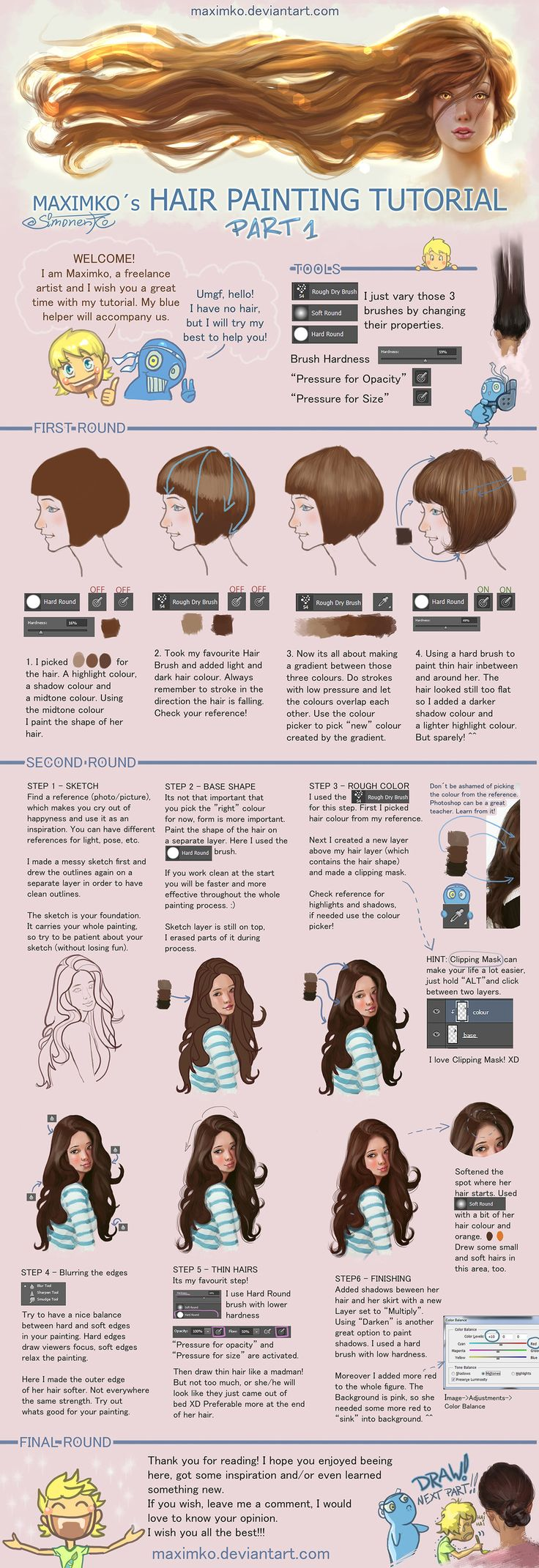 Hair Tutorial - Part 1 by Maximko on DeviantArt
