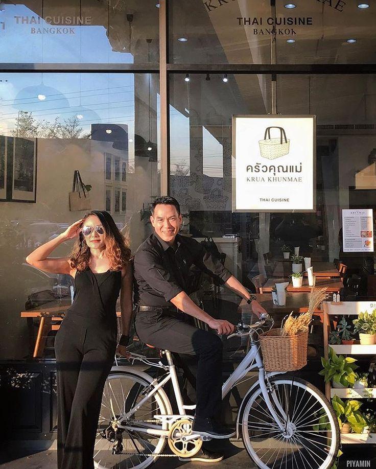ไปกินข้าวกันปะน้องสาว!!!??? #bangkok #thailand #thaiguys #bicycle #restaurant