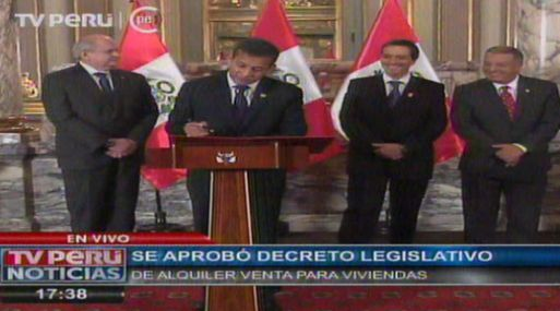 Leasing inmobiliario: Ollanta Humala promulga ley de alquiler-venta