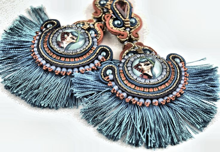 "https://flic.kr/p/pbvENz | Soutache Earrings "" Pin ups """
