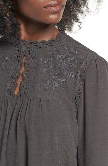 Main Image - ASTR Embroidered Blouse