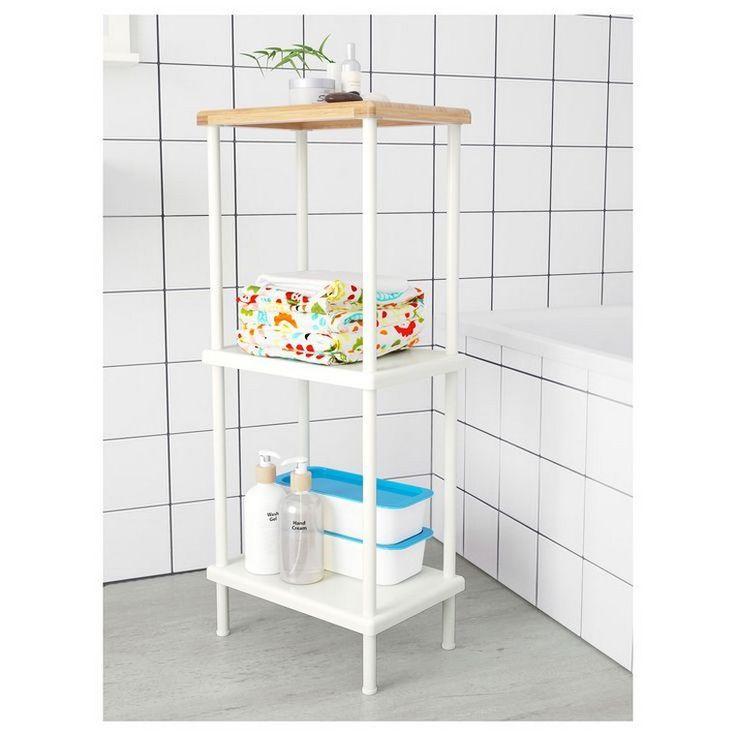 étagère salle de bain ikea bois blanc
