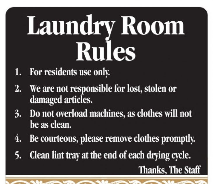 Laundry Room Sign Laundry Room Rules Black And Tan Scroll 10 Ways To Be A Good Neighbor In An Apartment Korcett In 2020 Laundry Room Laundry Signs Laundry Room Signs