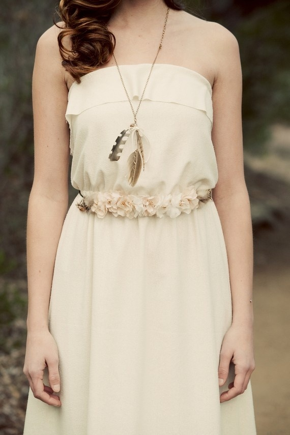 Amazing dresses for beach brides. Made of real silk for $480 by Katie Walker on Etsy. Switch the feathers and boots to shell jewelry and bare feet. Youll never need shoes on the white sugar sand of Fort Myers Beach. See everything at this great shop.