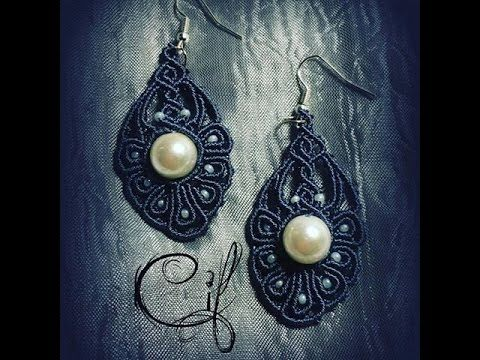 Tutorial Orecchini Macramè Occorrente per un orecchino: 8 fili 0,5 mm x 70 cm lunghezza 1 perla diametro un cm 9 perline 8/0 1 anellino 1 monachella