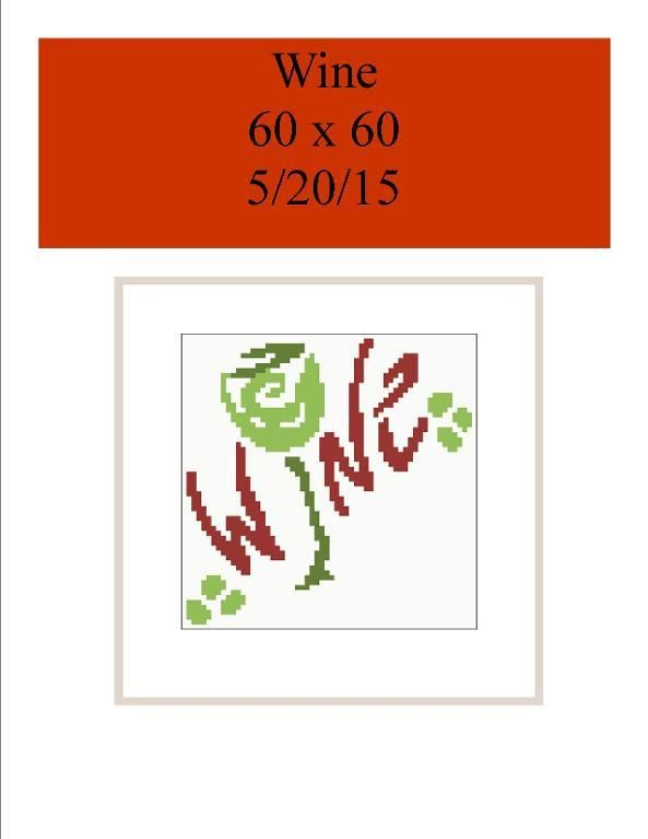 (4) Name: 'Crocheting : Wine GRAPH ONLY C2C 60 X 60