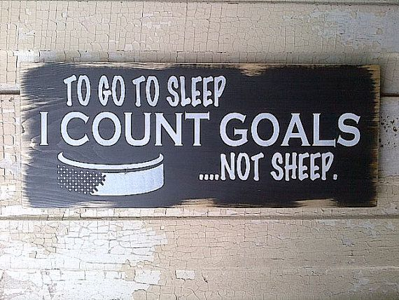 To Go To Sleep I Count Goals Not Sheep wooden by dressingroom5