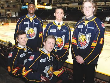 Barrie Colts pick up local players in draft. The Barrie Colts picked up 16 players in the Saturday's Ontario Hockey League's Priority Selection draft including (clockwise from top right) Givani Smith, Ben Hawerchuk, Sam Dunn, Jeff Allen and Matt Brassard.