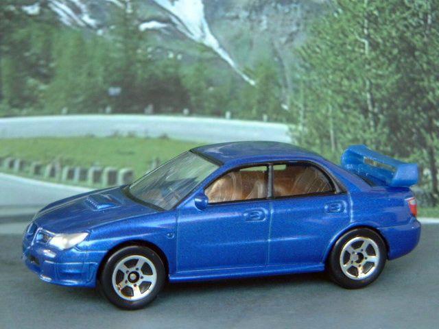 SUBARU IMPREZA 1:60/3  (Dark Met.Blue) Realtoy MIB Diecast Passenger Car