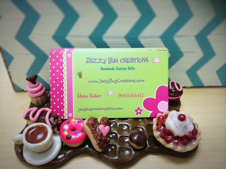 Business Card Holder made of Polymer Clay