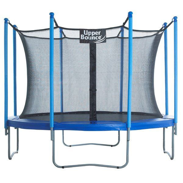 The Upper Bounce 10' Trampoline with Enclosure provides great fun and physical activity for your kids. This is a net enclosed trampoline, which ensures maximum safety for the kids. The steel construction ensures years of functionality and durability. This trampoline includes 64 springs that offer excellent bouncing experience. This trampoline is supported with four W-shaped legs, which can be detached anytime. The safety pad prevents accidental falls and injuries. This trampoline is rust ...