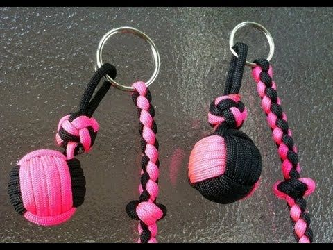 Paracordist how to tie a two color monkey's fist knot with paracord and ...
