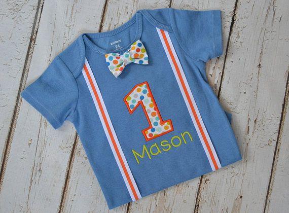 Colorful boys 1st birthday shirt  Etsy shop https://www.etsy.com/listing/260896543/baby-boy-first-birthday-outfit