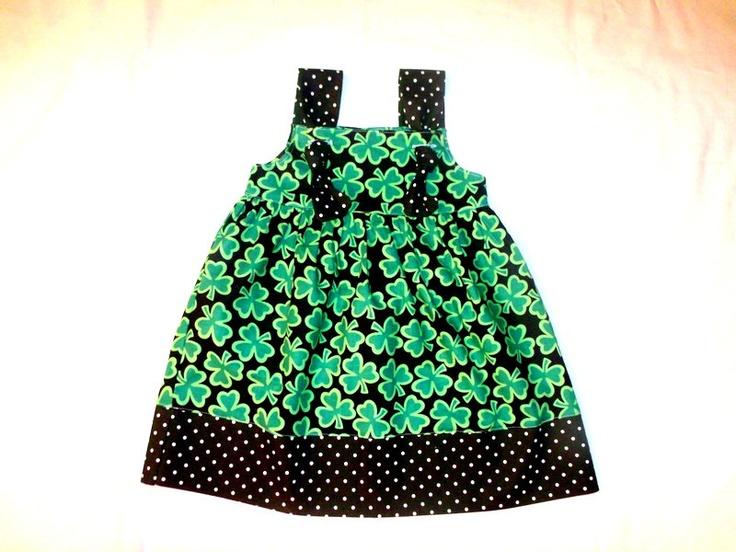 St Patricks Day Dress Shamrock Dress St Patrick's Day outfit  St Patricks Day knot dress Girl St Patricks Day Toddler St Patrick. $27.00, via Etsy.