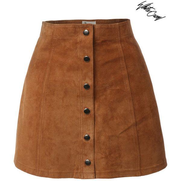 Blow Brown straight skirt