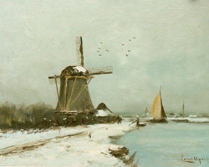 Louis Apol - Vaart in de winter