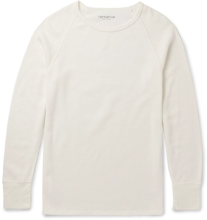 nonnative Dweller Slim-Fit Waffle-Knit Cotton T-Shirt