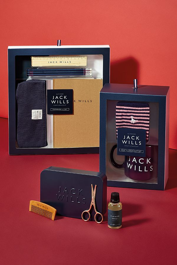 He's all about the name, and he's keen to show it off. He loves them all. But labels don't need to stop with clothes. In fact, you can choose from a whole range of premium gifts here at Boots, including skincare, toiletries and even accessories like our great range from Jack Wills.   Shop now for:  Jack Wills Stationery Gift Set. Jack Wills Mug and Socks Gift Set.  Jack Wills Grooming Kit.