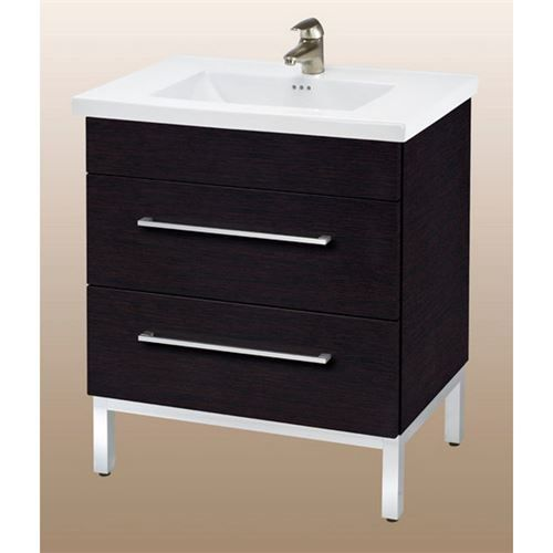 Empire Industries DV24-02BW Daytona 24 Two Drawers Vanity in Blackwood Matte for Villa Ceramic Sink Top