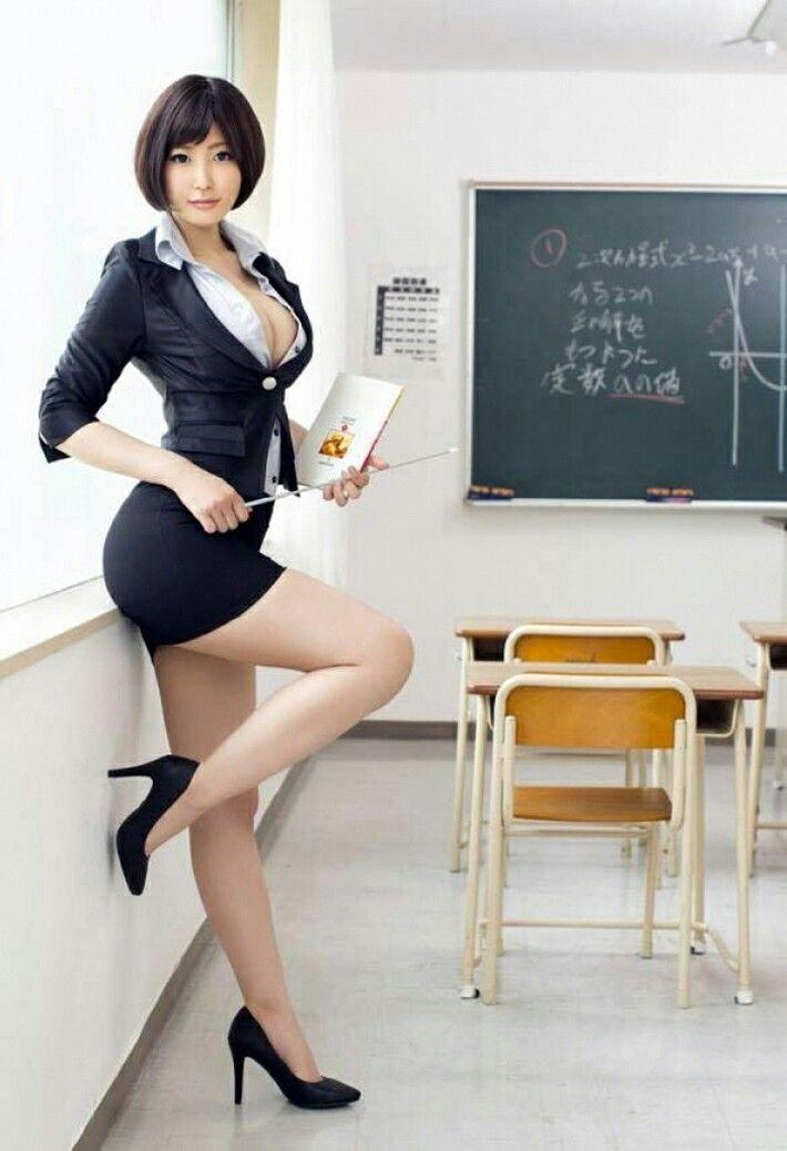 Cartoon a beautiful woman teacher with book vector image