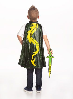 Make your child's wildest dreams come true with this newly designed Dragon Cape and Sword Set.