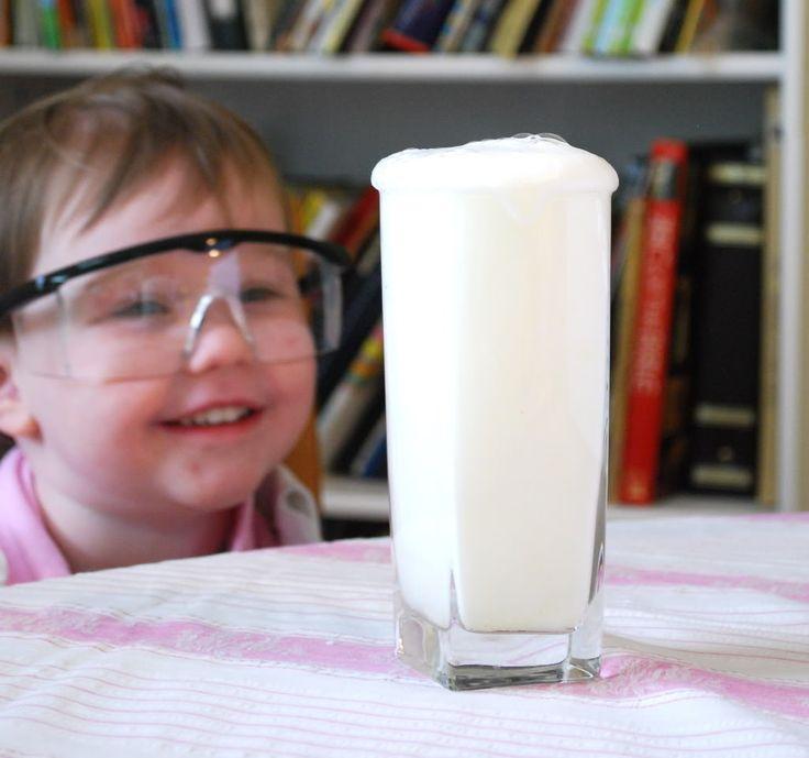 Preschool Science experiments- Lemon juice explosions