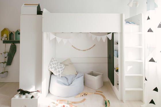Hochbett und Kuschelecke   Kinderzimmer fürs Schulkind