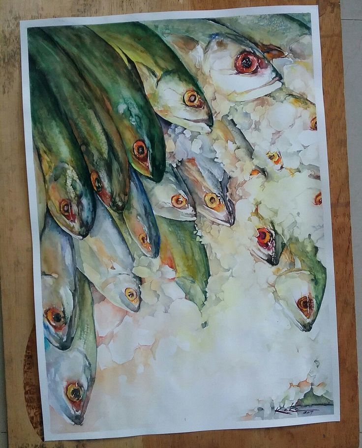 #watercolor #painting 2017 @kokoponimqn