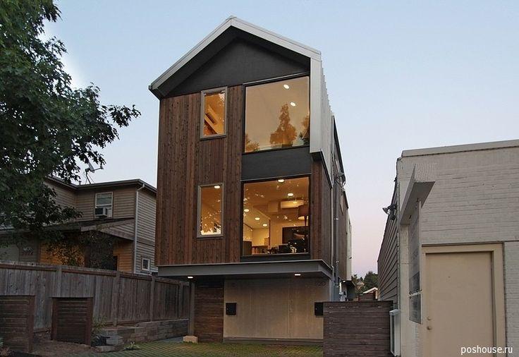 Современный и практичный городской двухквартирный коттедж в Сиэтле |