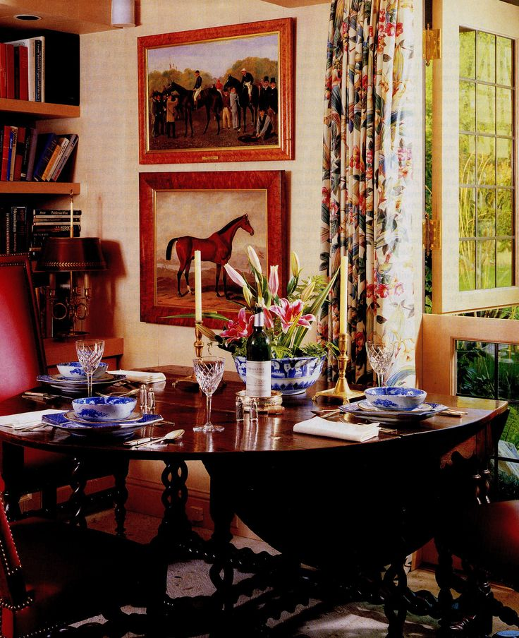 The Perfect Equestrian Spacethe Table Is Phenomenal Curtains DecorEquestrian StyleCottage InteriorsDining